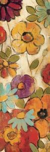 Floral Sketches on Linen I by Silvia Vassileva
