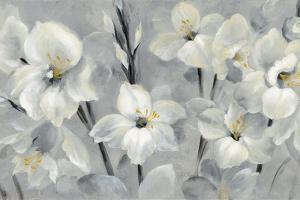 Flowers On Gray by Silvia Vassileva