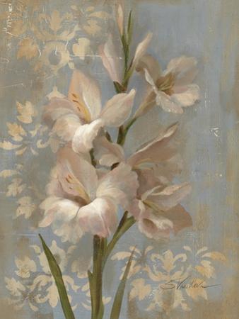 Gladiola on Soft Blue by Silvia Vassileva