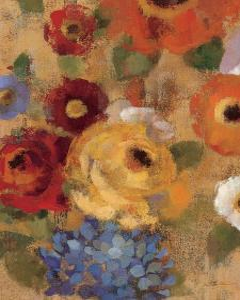Jacquard Floral I by Silvia Vassileva