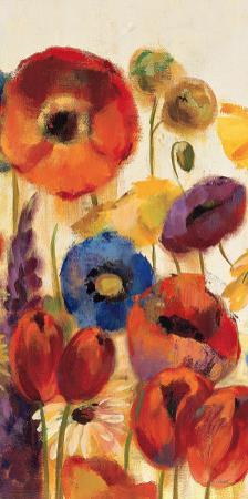 Joyful Garden Panel II by Silvia Vassileva