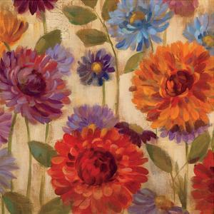 Rainbow Dahlias Crop II by Silvia Vassileva