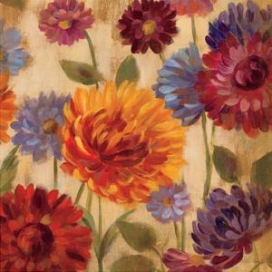 Rainbow Dahlias Crop III by Silvia Vassileva