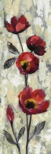 Simple Red Floral I by Silvia Vassileva