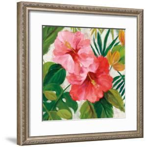 Tropical Jewels I v2 Pink Crop by Silvia Vassileva
