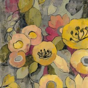 Yellow Floral Duo II Crop by Silvia Vassileva