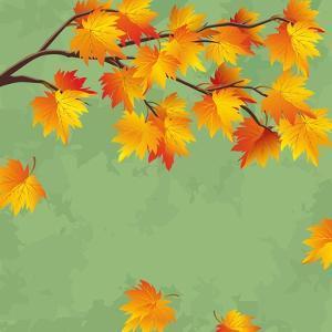 Vintage Autumn Wallpaper, Leaf Fall Background by silvionka