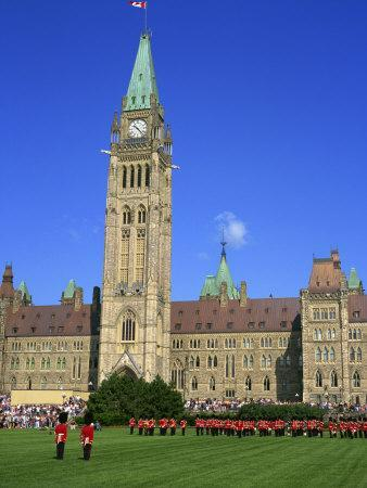 Changing of the Guard Ceremony, Government Building on Parliament Hill in Ottawa, Ontario, Canada