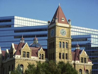 Old and New City Halls, Calgary, Alberta, Canada, North America