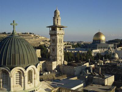 Skyline of the Old City, Uesco World Heritage Site, Jerusalem, Israel, Middle East