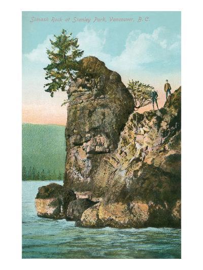 Simash Rock, Stanley Park, British Columbia--Art Print