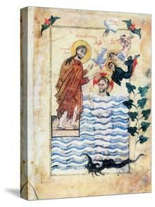 Baptism of Jesus by St John the Baptist, 1305 by Simeon Artchichetski