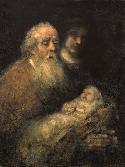 Simeon in the Temple, 1669-Rembrandt van Rijn-Giclee Print