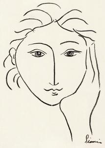 Woman's Face Sketch II by Simin Meykadeh