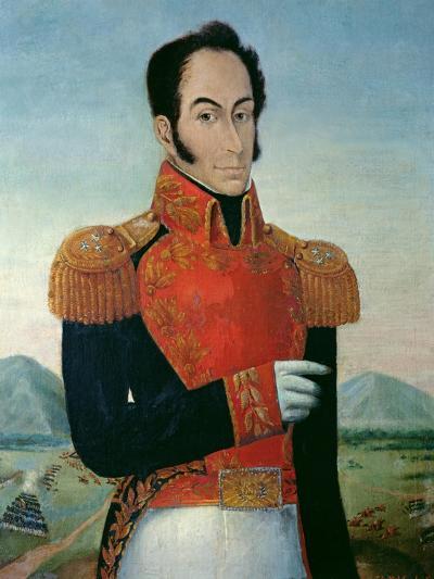 Simon Bolivar (1783-1830)-Arturo Michelena-Giclee Print