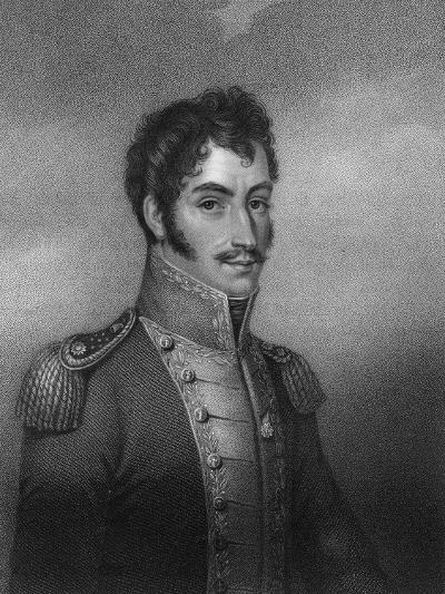 Simon Bolivar, 19th Century South American Revolutionary-W Holl-Giclee Print