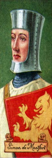 Simon de Montfort, taken from a series of cigarette cards, 1935. Artist: Unknown-Unknown-Giclee Print