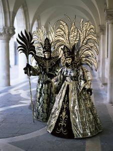Carnival Costumes, Venice, Veneto, Italy by Simon Harris