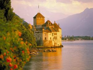 Chateau De Chillon, Lake Generva, Montreux, Switzerland by Simon Harris