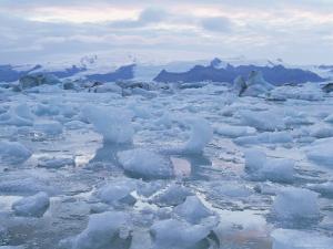 Jokulslarlon Glacial Lagoon, Vatnajokull Icecap, South Area, Iceland, Polar Regions by Simon Harris