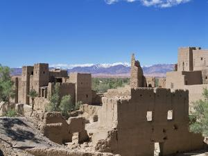 Kasbah, Dades Valley, and the Atlas Mountains, Morocco, North Africa, Africa by Simon Harris