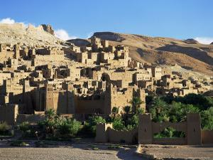 Kasbah of Ait Benhaddou, Atlas Mountains, Morocco, North Africa, Africa by Simon Harris