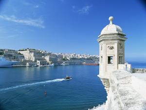 Valletta Viewed Over the Grand Harbour, Malta, Mediterranean by Simon Harris