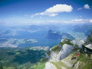 View from Mount Pilatus Over Lake Lucerne, Switzerland by Simon Harris