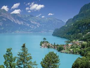 View Over Lake Brienz to Iseltwald, Switzerland by Simon Harris