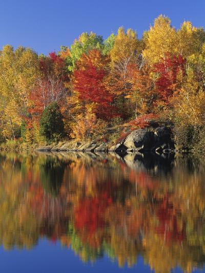 Simon Lake Reflection, Naughton, Ontario, Canada-Mike Grandmaison-Photographic Print