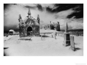 Carbury Castle and Graveyard, County Kildare, Ireland by Simon Marsden