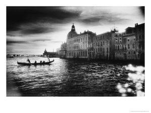 The Grand Canal Near the Basilica of Santa Maria Della Salute by Simon Marsden