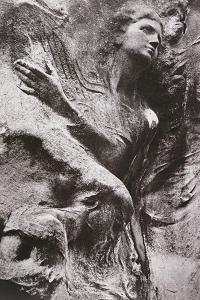 Tomb Carving, Pere Lachaise Cemetery, Paris, France by Simon Marsden
