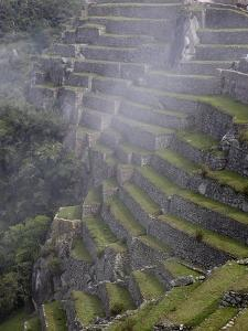 Agricultural Terraces in the Inca City, Machu Picchu, UNESCO World Heritage Site, Peru, South Ameri by Simon Montgomery