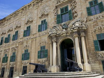 Auberge De Castille One of Valletta's Most Magnificent Buildings, Valletta, Malta, Mediterranean, E by Simon Montgomery