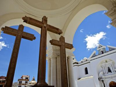 Basilica of Our Lady of Copacabana on the Shores of Lake Titicaca, Bolivia, South America