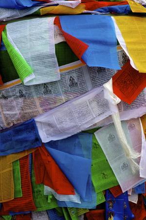 Colourful Prayer Flags, Lhasa, Tibet, China, Asia by Simon Montgomery