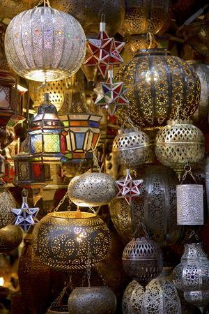 Lanterns for Sale in the Souk, Marrakesh, Morocco, North Africa, Africa