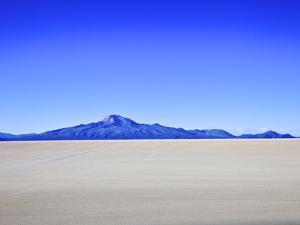Salar de Uyuni Salt Flats and the Andes Mountains in the Distance, Bolivia, South America by Simon Montgomery
