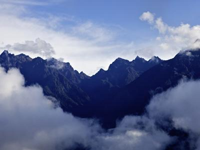 View from Huayna Picchu, Vilcabamba, Andes Mountains, Peru, South America