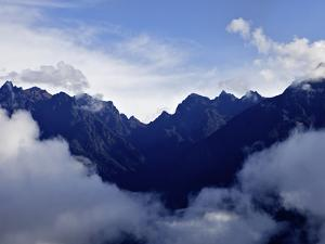 View from Huayna Picchu, Vilcabamba, Andes Mountains, Peru, South America by Simon Montgomery
