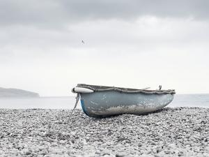 Boat at Beach in Devon by Simon Plant