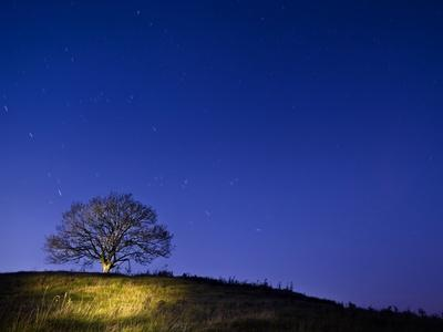 Burrow Hill, Somerset, at night