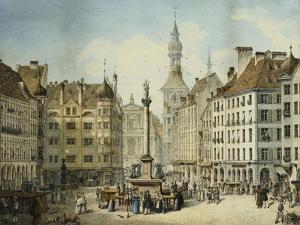The Schrannenplatz, Munich by Simon Quaglio