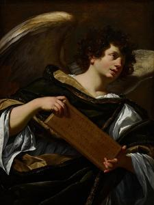 Angels with Attributes of the Passion, the Superscription from the Cross, C.1624 by Simon Vouet