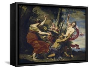 Father Time Overcome by Love, Hope and Beauty, 1627 by Simon Vouet
