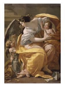 Figure allégorique dit La Richesse by Simon Vouet
