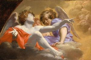 Model for Altarpiece in St. Peter's, 1625 by Simon Vouet