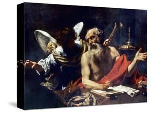Saint Jerome & The Angel by Simon Vouet