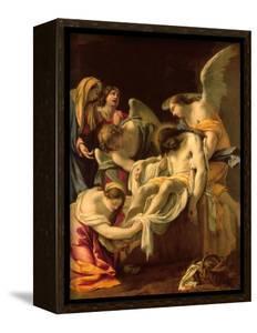 The Entombment (Oil on Panel) by Simon Vouet